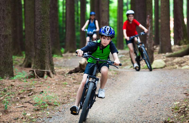 Little Kids Riding Bikes