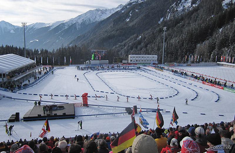 Biathlon Weltcup In Antholz Vivokronplatz